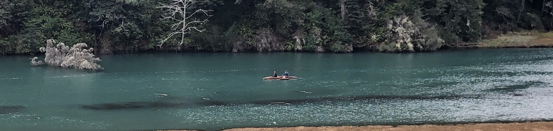canoe on big river